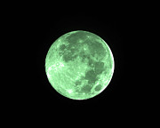 Green Color Digital Art - Melon Moon by Al Powell Photography USA