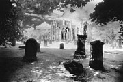 Grave Photos - Melrose Abbey by Simon Marsden