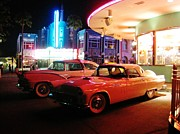 Night Scenes Photo Originals - Mels Diner Number Two by John Malone
