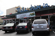 Mel's Drive-in Diner In San Francisco - 5d18027 Print by Wingsdomain Art and Photography