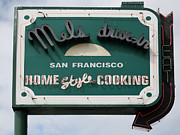 Fast Food Framed Prints - Mels Drive-in Diner Sign in San Francisco - 5D18015 Framed Print by Wingsdomain Art and Photography
