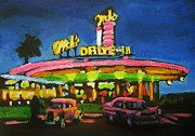 Rock And Roll Painting Originals - Mels Drive In One by John Malone