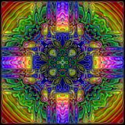 Kaleidoscope Metal Prints - Melted Metal Print by Lyle Hatch