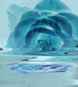 Melting Blue Rose  Print by Anne-Elizabeth Whiteway