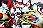 Grunge Skull Paintings - Melting Death by Yurix Sardinelly