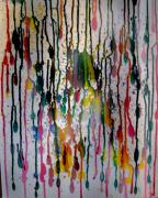 Drips Paintings - Melting Matrix by Leslie Revels Andrews