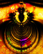 Fractal Geometry Digital Art - Melting Pot . Gold . S8a.S11 by Wingsdomain Art and Photography