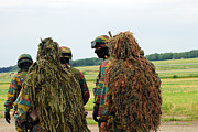 Ghillie Suits Prints - Members Of The Special Forces Group Print by Luc De Jaeger