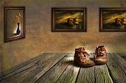 Photomanipulation Digital Art Acrylic Prints - Mementos Exhibition Acrylic Print by Veikko Suikkanen