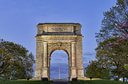 National Memorial Prints - Memorial Arch Valley Forge Print by John Greim