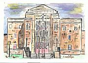 Building Painting Originals - Memorial Auditorium  by Matt Gaudian