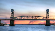 Wilmington Nc Prints - Memorial Bridge Print by JC Findley