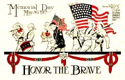 Brave Drawings Posters - Memorial Day Poster by Pg Reproductions