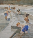 Playing Painting Originals - Memorial Day Waterworks by Jenny Armitage