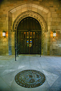 Entrance Door Framed Prints - Memorial Hall I Framed Print by Steven Ainsworth