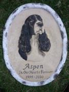 Carving Reliefs - Memorial stone for Aspen by Kary Fields-Montour