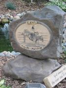 Carving Reliefs - Memorial Stone for Levi by Kary Fields-Montour
