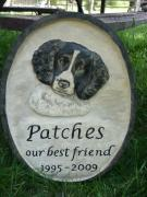 Carving Reliefs - Memorial stone for Patches by Kary Fields-Montour