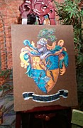 Coat Of Arms Paintings - Memorial to her Children by Nancy Rutland