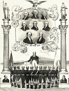 Declaration Of Independence Prints - Memorial To The American Revolution Print by Photo Researchers
