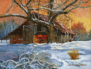 Old Barn Paintings - Memories by Alan Carlson