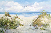 Sea Oats Prints - Memories Print by Jane Woodward