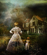 Creepy Digital Art Posters - Memories Poster by Karen Koski