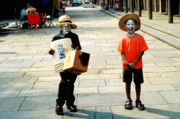 Street Scenes Prints - Memories of a Better Time The Children of New Orleans Print by Christine Till - CT-Graphics