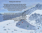 Hockey Net Posters - Memories of a Little Pond Poster by Barbara Griffin