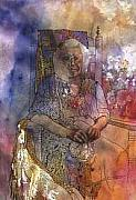 Woman In Rocking Chair Paintings - Memories of Adeline by Wendy Hill