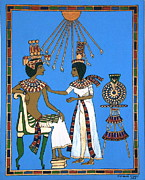 Pharaoh Painting Prints - Memories of Egypt Print by Stephanie Moore