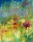 Julie Lueders Artwork Originals - Memories of Grandmothers Flower Garden by Julie Lueders