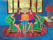 Figures Painting Originals - Memories of Mom by Deb Magelssen
