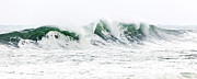 Blue Green Wave Photos - Memories of Sandy by Michelle Wiarda