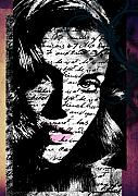 Fashion Face Digital Art Posters - Memories Poster by Ramneek Narang