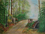 Pathways Painting Originals - Memory Bridge 1 by Leslie Allen