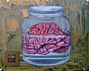 Brain Painting Prints - Memory Print by Joe Dragt