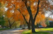 Suburbia Posters - Memory of an Autumn Day Poster by Lyle Hatch
