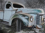 Old Trucks Pastels - Memory of the 40s by Michele Turney