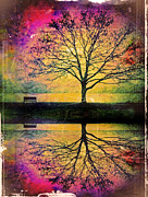 Fantasy Tree Art Prints - Memory Over Water Print by Tara Turner