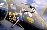 Sepia Tone Digital Art - Memphis Belle Noce Art B - 17 by Mike McGlothlen