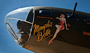 Memphis Belle Nose Art Print by Murray Bloom