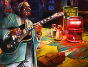 Bb King Mixed Media Prints - Memphis Nights 02 Print by Miki De Goodaboom