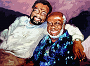 African-american Mixed Media Posters - Memphis Soul Music William Bell and Rufus Thomas Poster by Ginette Callaway