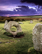 New Britain Framed Prints - Men-an-tol Standing Stones Framed Print by Chris Madeley