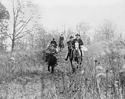 1920s Candid Art - Men And Boy On Horses During Hunt by Everett
