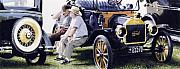 Antique Automobiles Art - Men and their Toys by Denny Bond