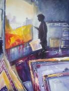 Portfolio Paintings - Men at Work 3 by Julia Forman