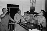 Bsloc Metal Prints - Men Drinking Beer At The Bar Metal Print by Everett