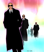 Clone Framed Prints - Men In Black Framed Print by Victor Habbick Visions